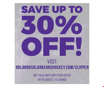 Save up to 30% off!