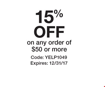 15% OFFon any order of $50 or more. Code: YELP1049 Expires: 12/31/17*Cannot be combined with any other offer. Restrictions may apply. See store for details. Edible, Edible Arrangements, and the Fruit Basket Logo are registered Trademarks of Edible IP, LLC.†  2017 Edible IP, LLC. All Rights Reserved.