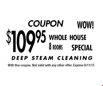 COUPON $109.95 whole house 8 rooms SPECIAL. With this coupon. Not valid with any other offer. Expires 8/11/17.