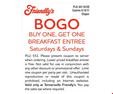 BOGO Breakfast Entree
