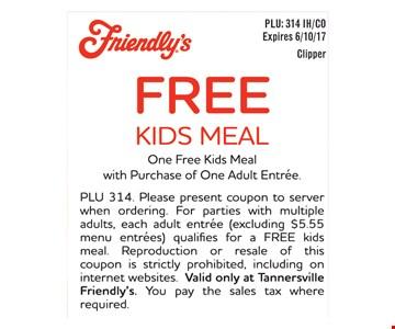 Free kids meal.