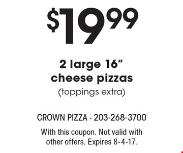 $19.99 for 2 large 16