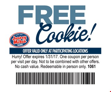 Free cookie