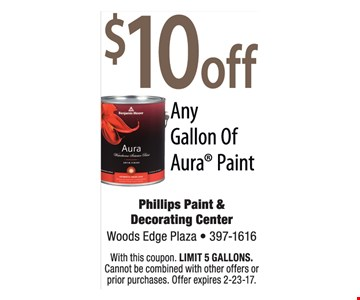 $10 off any gallon of Aura Paint