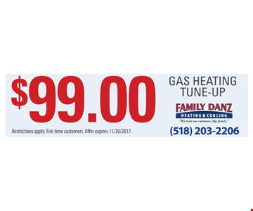 $99 gas heating tune-up