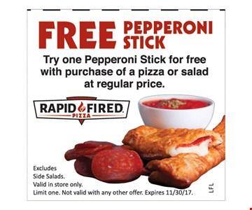 Free pepperoni stick