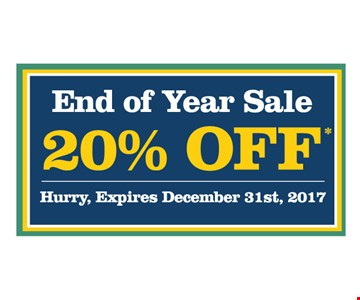 20% off end of year sale
