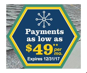 payments as low as $49 per month