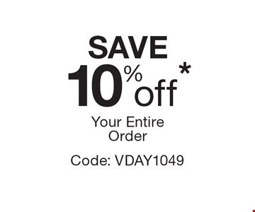 10% Off Your Entire Order. Code: VDAY1049 *Offer expires 3/3/17. Cannot be combined with any other offer. Restrictions may apply. See store for details. Edible, Edible Arrangements, the Fruit Basket Logo, and other marks mentioned herein are registered trademarks of Edible Arrangements, LLC.  2017 Edible Arrangements, LLC. All rights reserved.