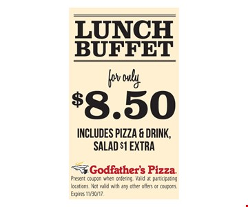 Lunch Buffet for only $8.50