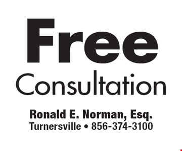 Free Consultation.