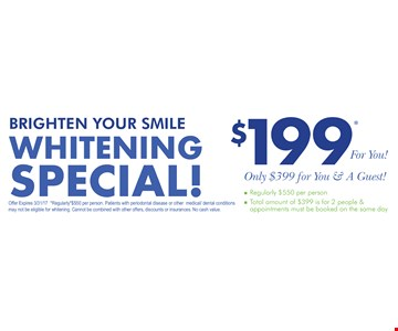 $199 whitening special