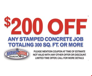 $200 Off Any Stamped Concrete Job