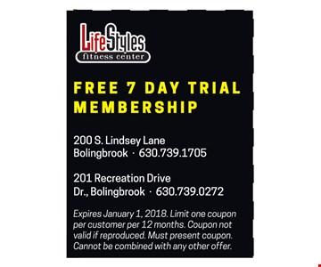 Free 7 day trial membership