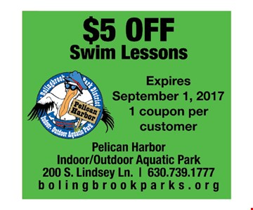 $5 off Swim Lessons