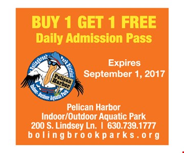 Buy 1, get 1 free Daily Admission Pass