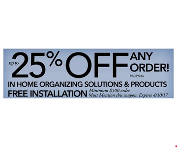 25% Off Any Order