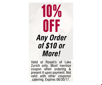 10% off any order of $10 or more