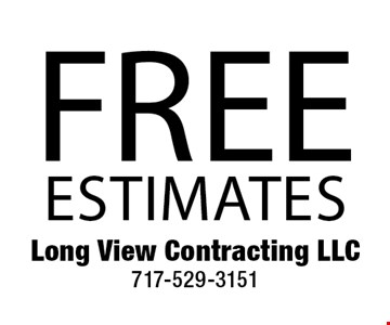 free estimates.