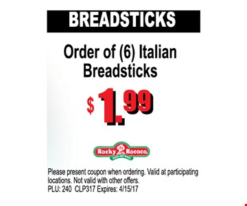 Breadsticks $1.99