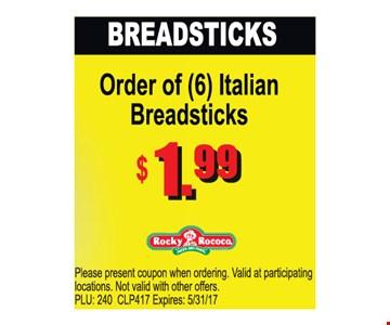 Breadsticks $1.99