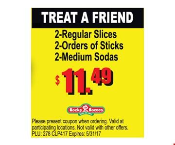 Treat a Friend $11.49