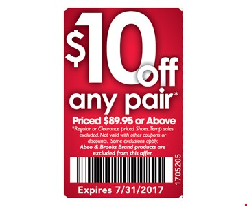 $10 off any pair