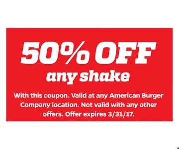 50% Off Any Shake