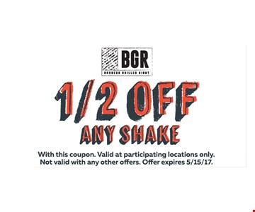 1/2/ Off any shake