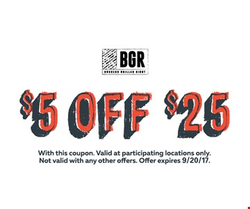$5 Off $25 with this coupon