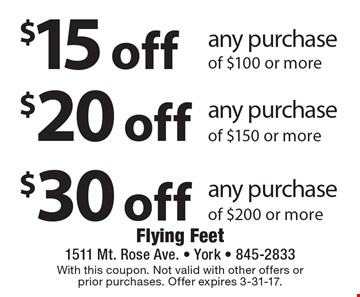Flying feet coupon york pa