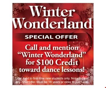 $100 Credit toward dance lessons