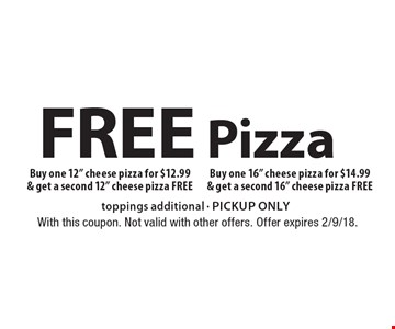 free Pizza Buy one 12