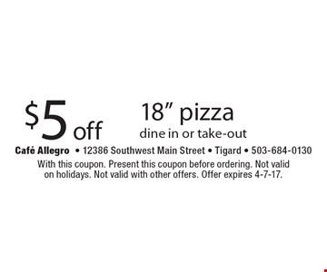 $5 off 18