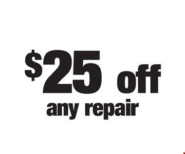 $25 off any repair.
