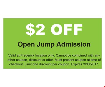 $2 Off open Jump Admission