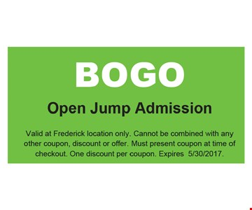BOGO Open Jump Admission