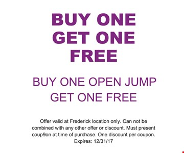 Buy One Open Jump Get One Free