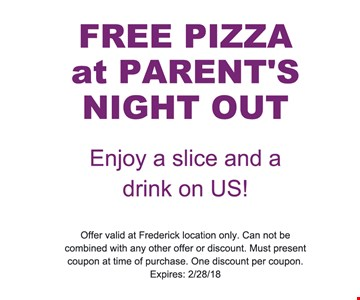 free pizza at parents night out