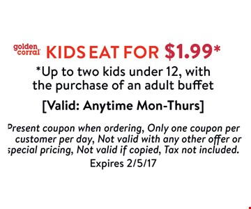 Kids Eat For $1.99