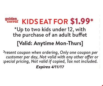 Kids Eat For $1.99