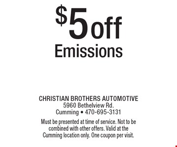 Free 79 Point Safety Inspection. Inspect all belts, hoses, fluids, brakes and more. Must be presented at time of service. Not to be combined with other offers. Valid at the Cumming location only. One coupon per visit.