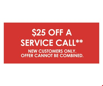 $25 off a service call.