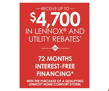 $4,700 in rebates OR 72 months interest free financing.