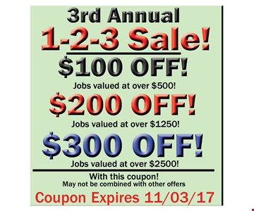 3rd annual sale as much as $300 off