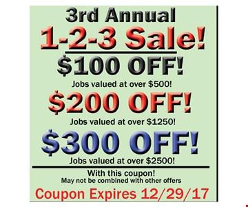 3rd Annual 1-2-3 Sale