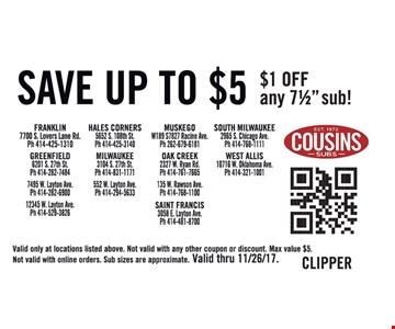 Save up to $5