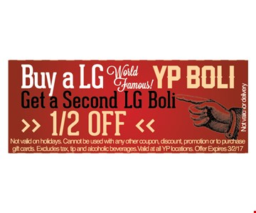 Buy a LG YP Boli get second one half off