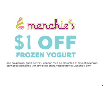 $1 Off Frozen Yogurt