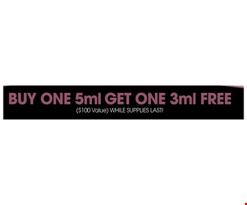Buy one 5ml get one 3ml free
